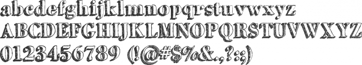 GrutchShaded Font Specimen