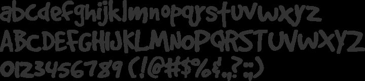GoodDog Font Specimen