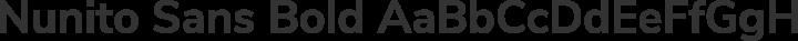 Nunito Sans Bold free font