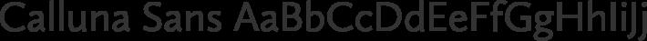 Calluna Sans font family by Exljbris