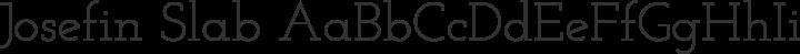 Josefin Slab Regular free font