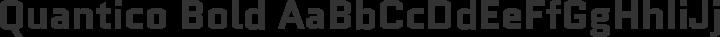 Quantico Bold free font