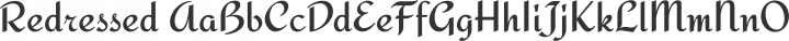 Redressed Regular free font