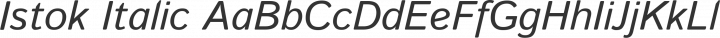 Istok Italic free font