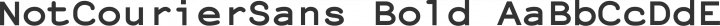 NotCourierSans Bold free font