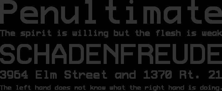 ProFontWindows Font Phrases