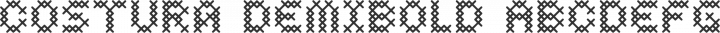 Costura DemiBold free font