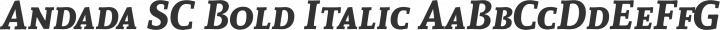 Andada SC Bold Italic free font