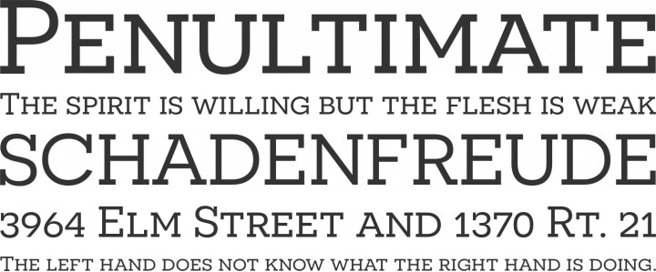 Novecento Slab Font Phrases