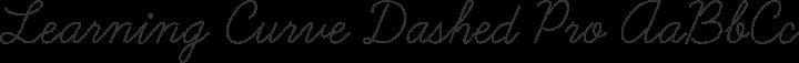 Learning Curve Dashed Pro Regular free font