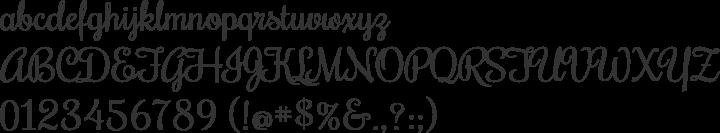 Rochester Font Specimen