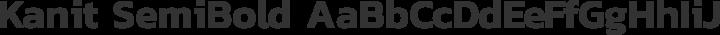 Kanit SemiBold free font
