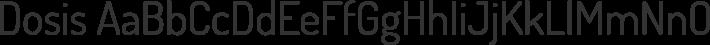 Dosis font family by Impallari Type
