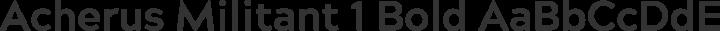 Acherus Militant 1 Bold free font