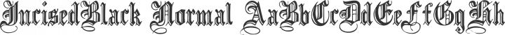IncisedBlack Normal free font