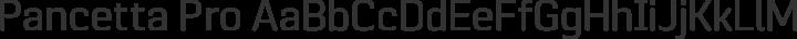 Pancetta Pro Regular free font