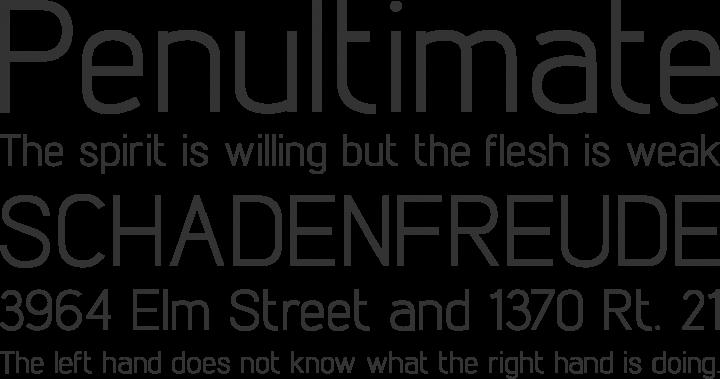 Lintel Font Phrases