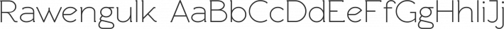 Rawengulk font family by GLUK fonts