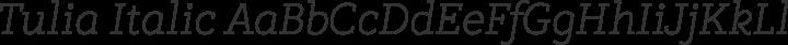 Tulia Italic free font
