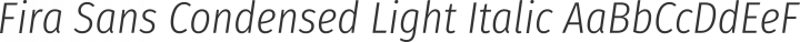 Fira Sans Condensed Light Italic free font