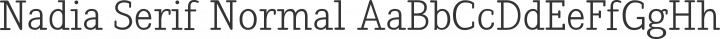 Nadia Serif Normal free font