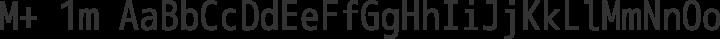 M+ 1m regular free font