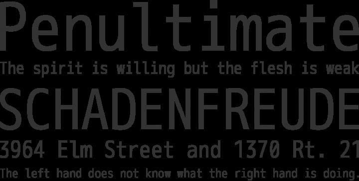 M+ 1m Font Phrases