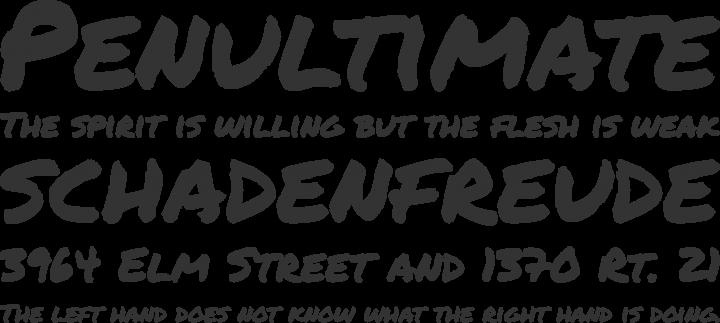 Permanent Marker Font Phrases