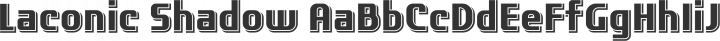 Laconic Shadow free font