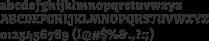 Kavoon Font Specimen