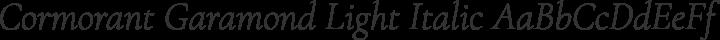 Cormorant Garamond Light Italic free font