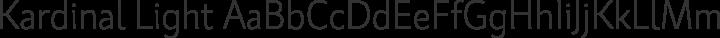 Kardinal Light free font