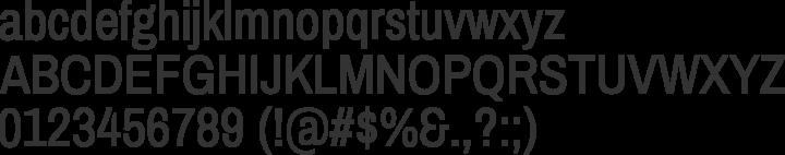 Archivo Narrow Font Specimen