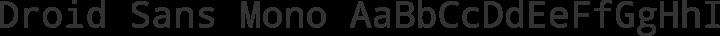 Droid Sans Mono Regular free font