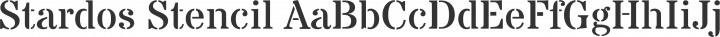 Stardos Stencil Regular free font