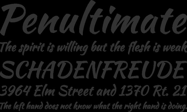 script writing font