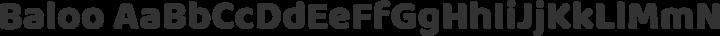 Baloo Regular free font