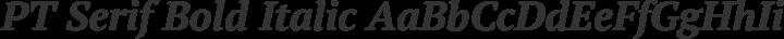PT Serif Bold Italic free font
