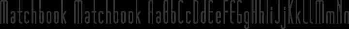 Matchbook Matchbook free font