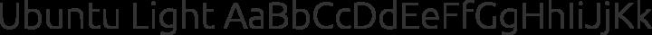 Ubuntu Light free font