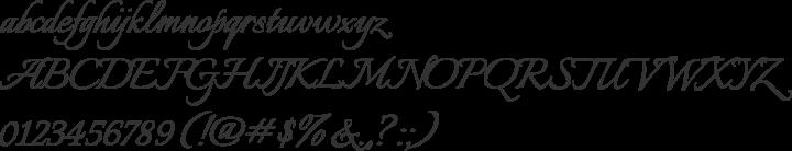 Italianno Font Specimen