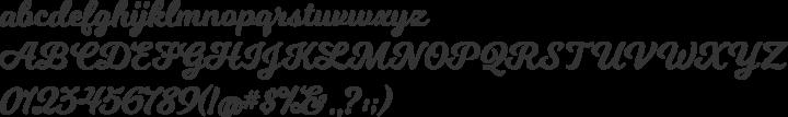 Milkshake Font Specimen