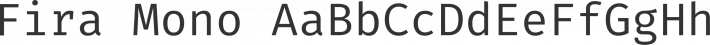 Fira Mono font family by Mozilla