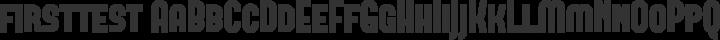 firsttest Regular free font