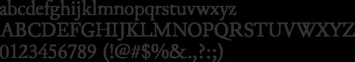Junicode Font Specimen