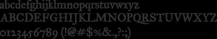 IM FELL Great Primer PRO Font Specimen