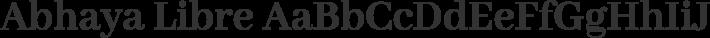 Abhaya Libre font family by Mooniak
