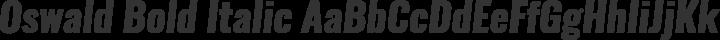 Oswald Bold Italic free font