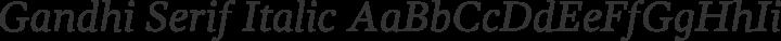 Gandhi Serif Italic free font