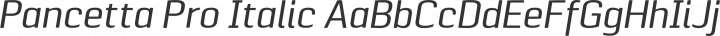 Pancetta Pro Italic free font